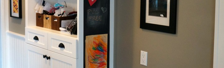 Our New Built-in Magnetic Kitchen Chalkboard